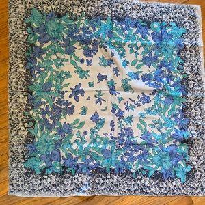 Silk floral boho scarf